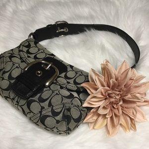 🐈💨 SALE 3/$17 COACH Soho Shoulder bag Gray Black